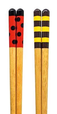 Lacquered chopsticks - Ladybug