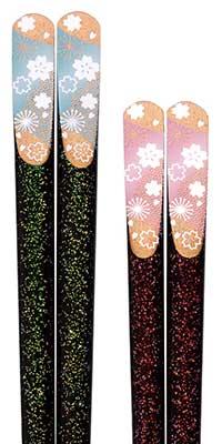 Lacquered chopsticks - Sakura Cherry Blossom